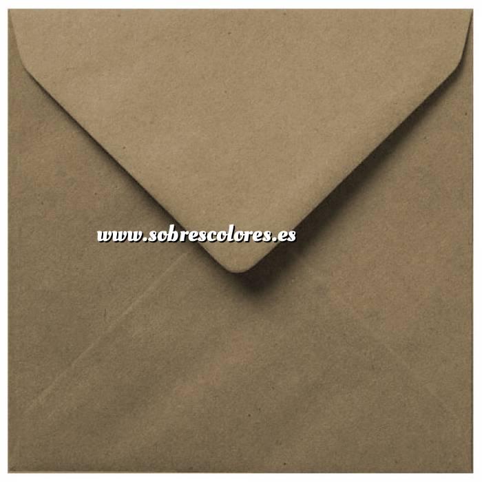 Imagen Sobres Cuadrados Sobre Marrón Kraft textura Reciclado Cuadrado