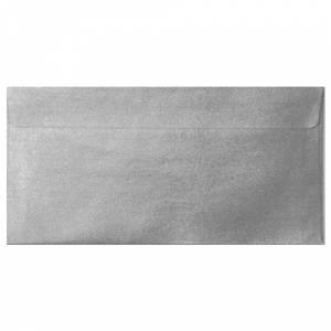 Sobre Americano DL 110x220 - Sobre Perlado Plata DL