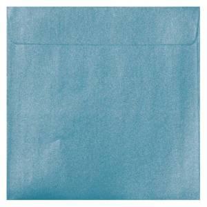 Sobres Cuadrados - Sobre Perlado celeste Cuadrado (Azul Bebé)